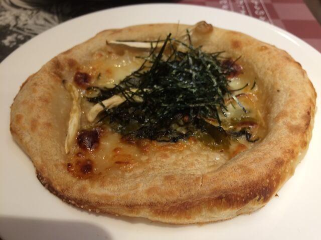 高菜とエリンギの和風ピザの画像