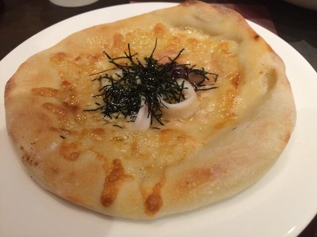りいかの醤油マヨネーズピザの画像
